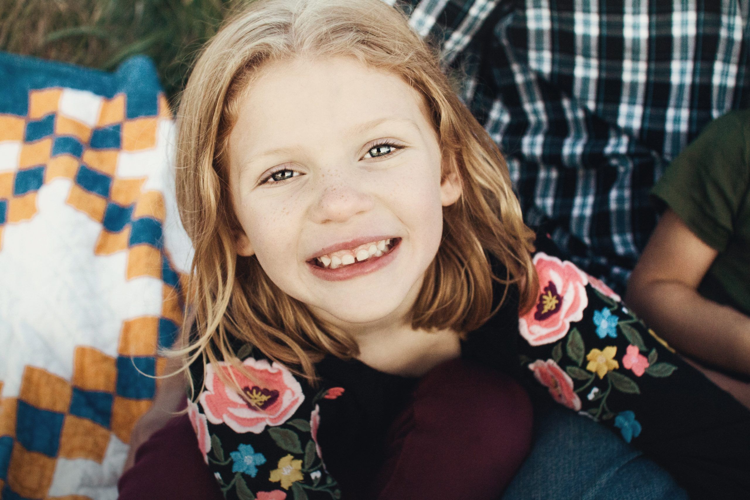 Young girl smiling in Campbell County